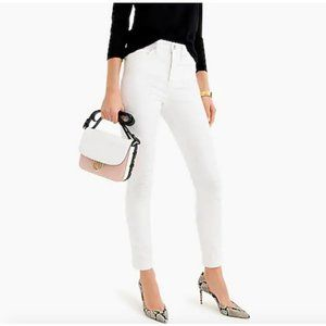"""J.Crew $98 9"""" High Rise Toothpick Jean in White"""